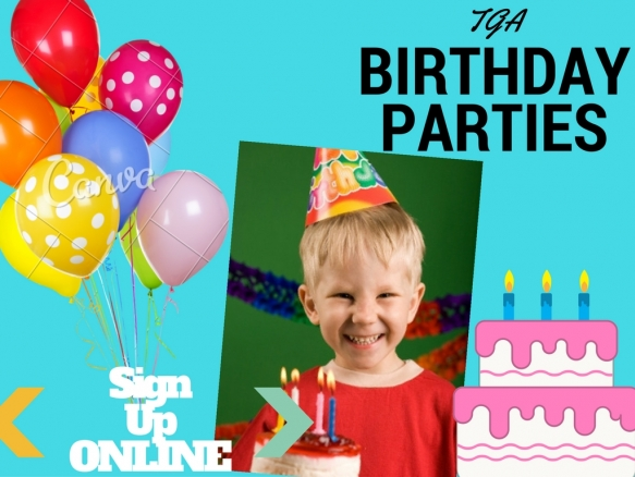 Celebrate Your Childs Next Birthday With Us A TGA Party Promises To Be Fun